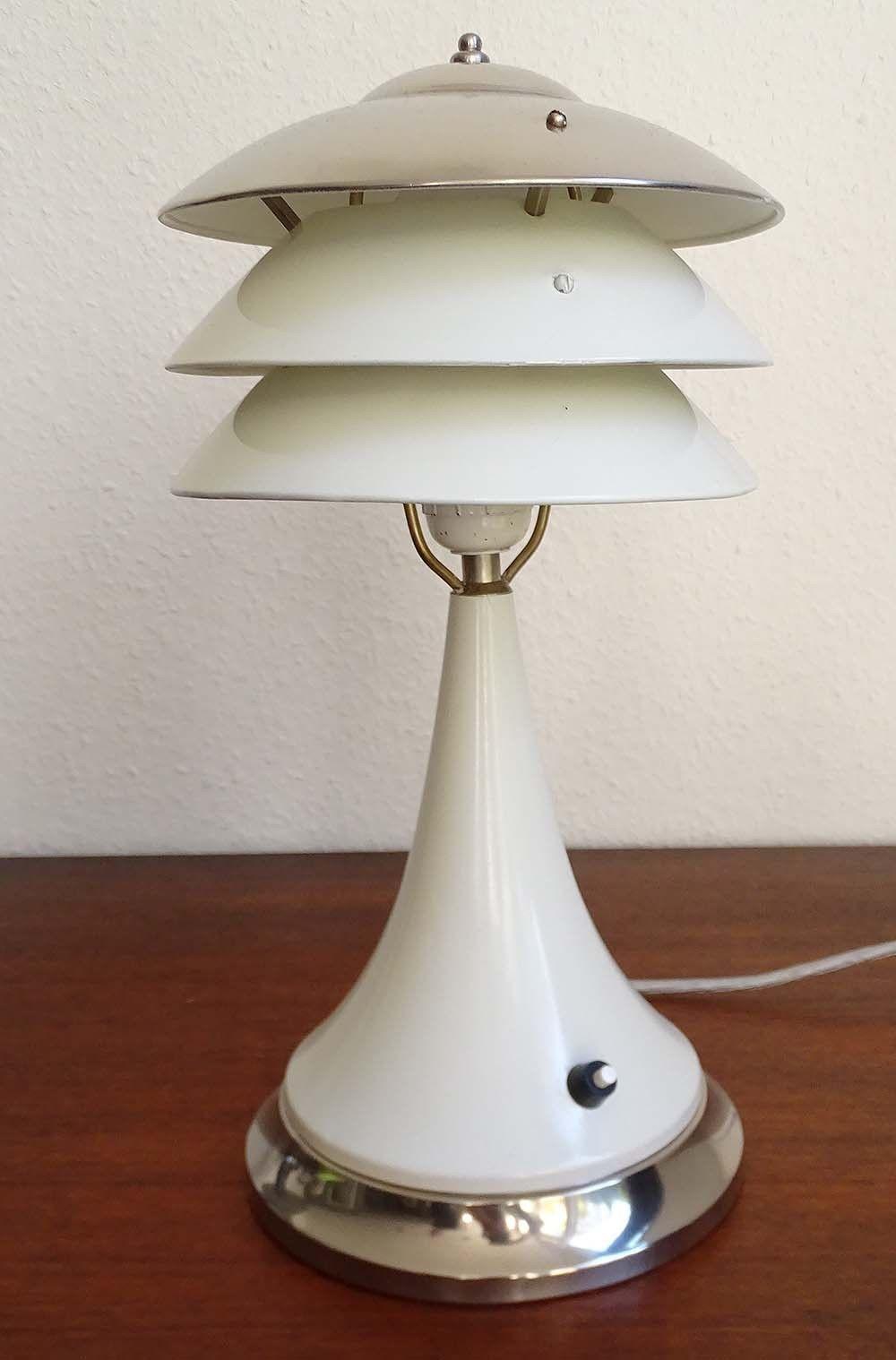 Grosse Art Deco Tischlampe Lampe Chrom Frankreich 30er Jahr Petitot Adnet Ebay Art Deco Lampen Art Deco Lampe