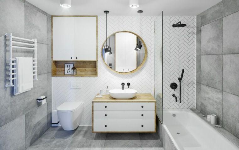 Salle De Bain Design Luxe Une Variete Des Salles De Bain Blanches Et Grises Luxueuses Decorations Pour La Maison En 2020 Salle De Bain Design Salle De Bains Blanche