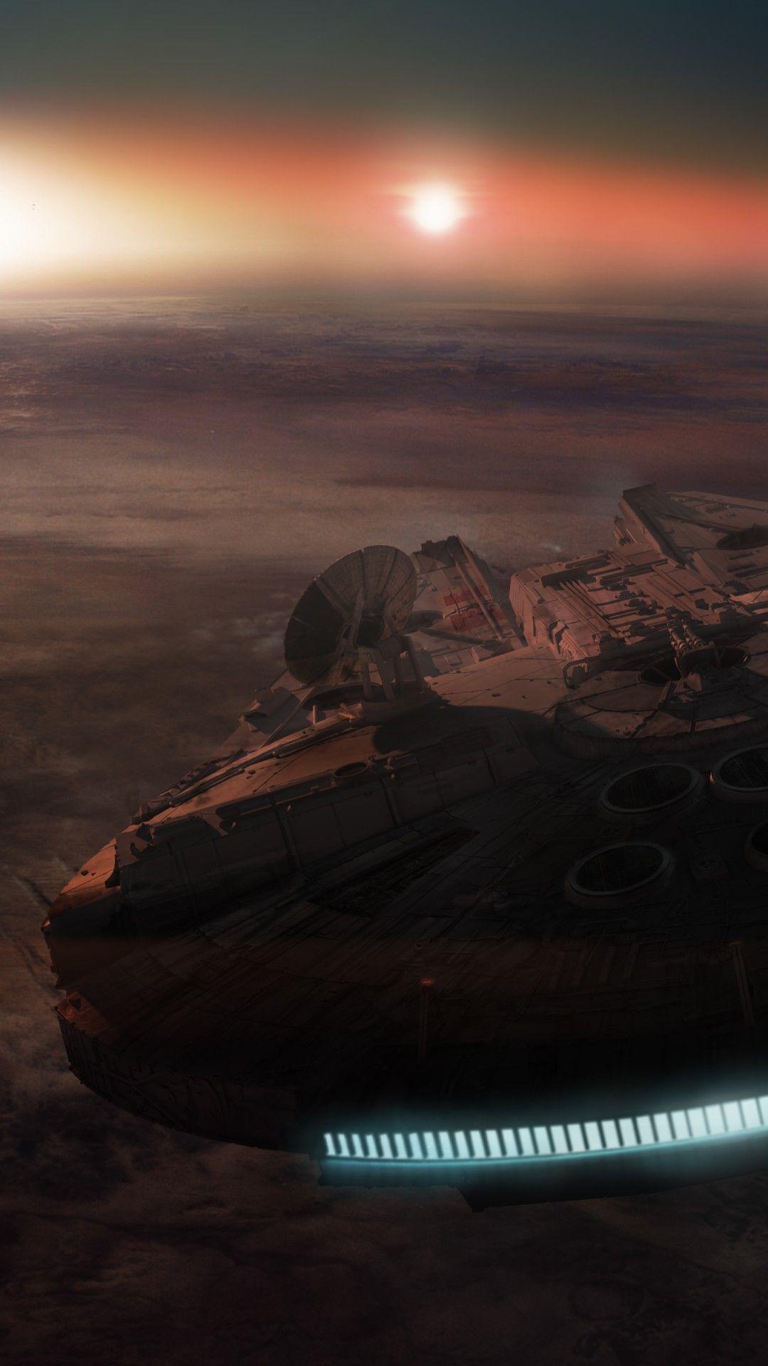 The Millennium Falcon Star Wars Star wars wallpaper