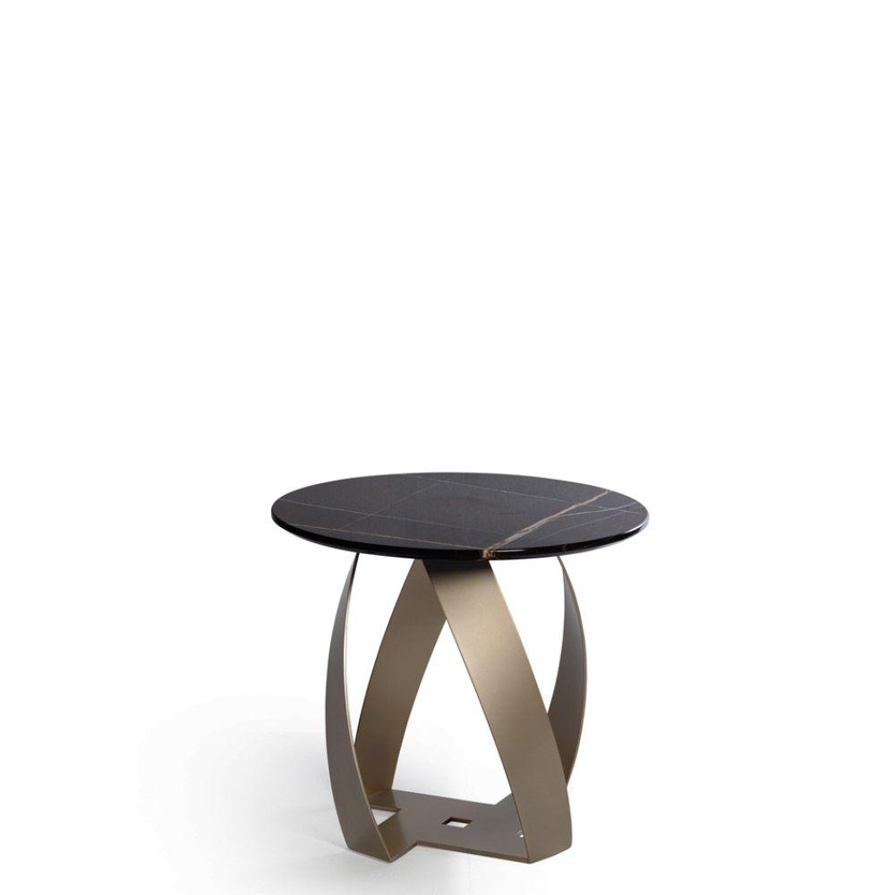 Lorenz Round Marble Coffee Table: Bon Bon Coffee Table Basement Corten (wax Treated), Black