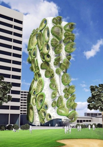 Residential Building Sky Condos Organic Architecture From The American Architects This Fantastic Project Is
