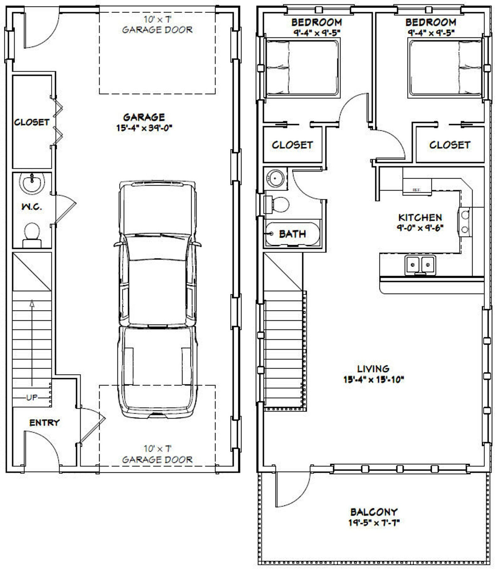 8x8 House -- 8 Bedroom 8.8 Bath -- 889 sq ft -- PDF Floor Plan
