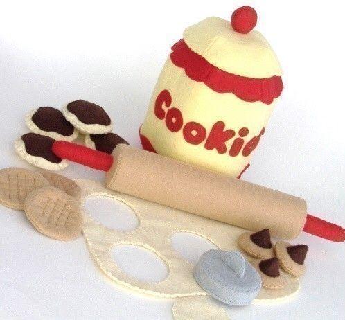 Sentí alimentos Cookie Jar - PDF patrón palote, cortadores galletas y Jar