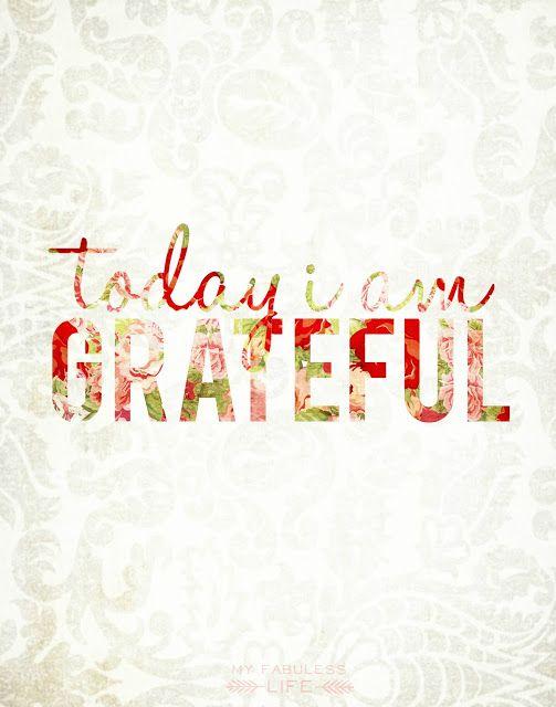 Today I Am Grateful {Printable