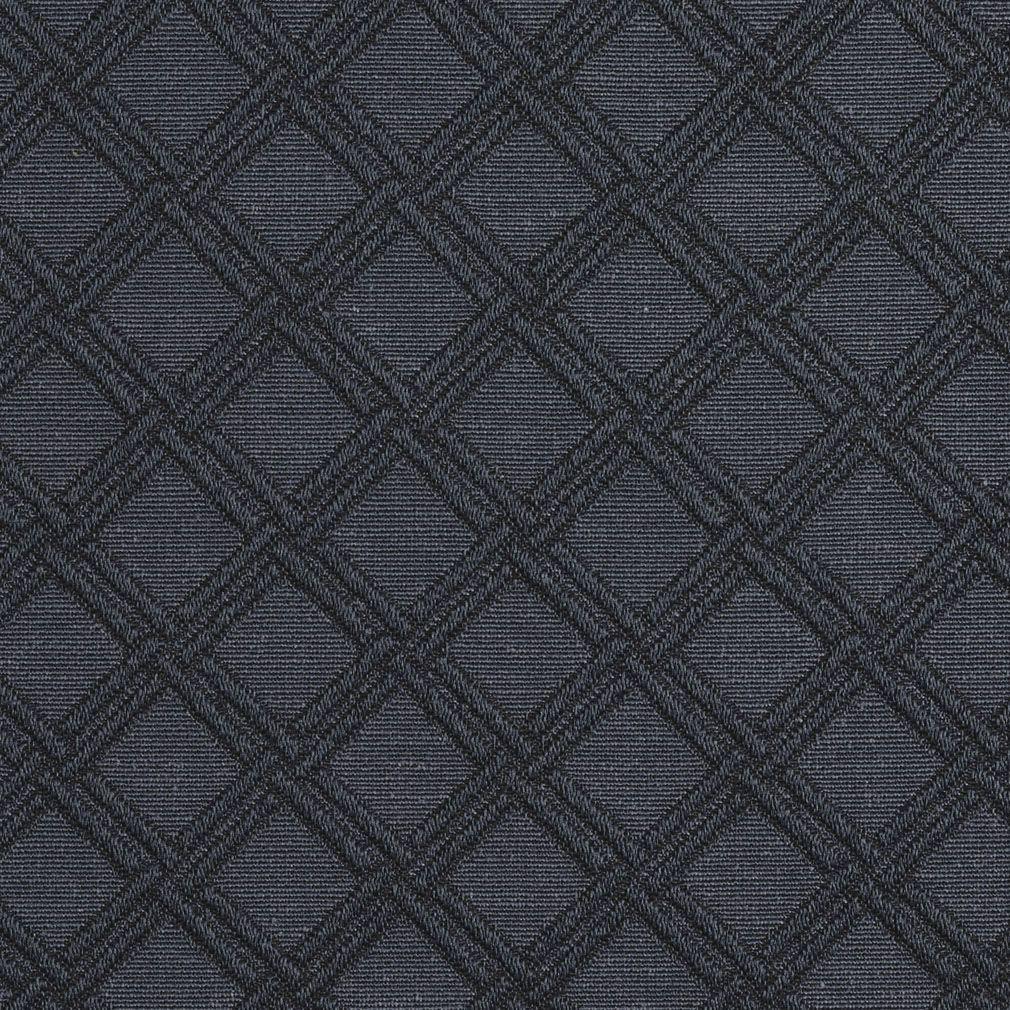 Delft Diamond Accent Dark Blue Contemporary Brocade Upholstery
