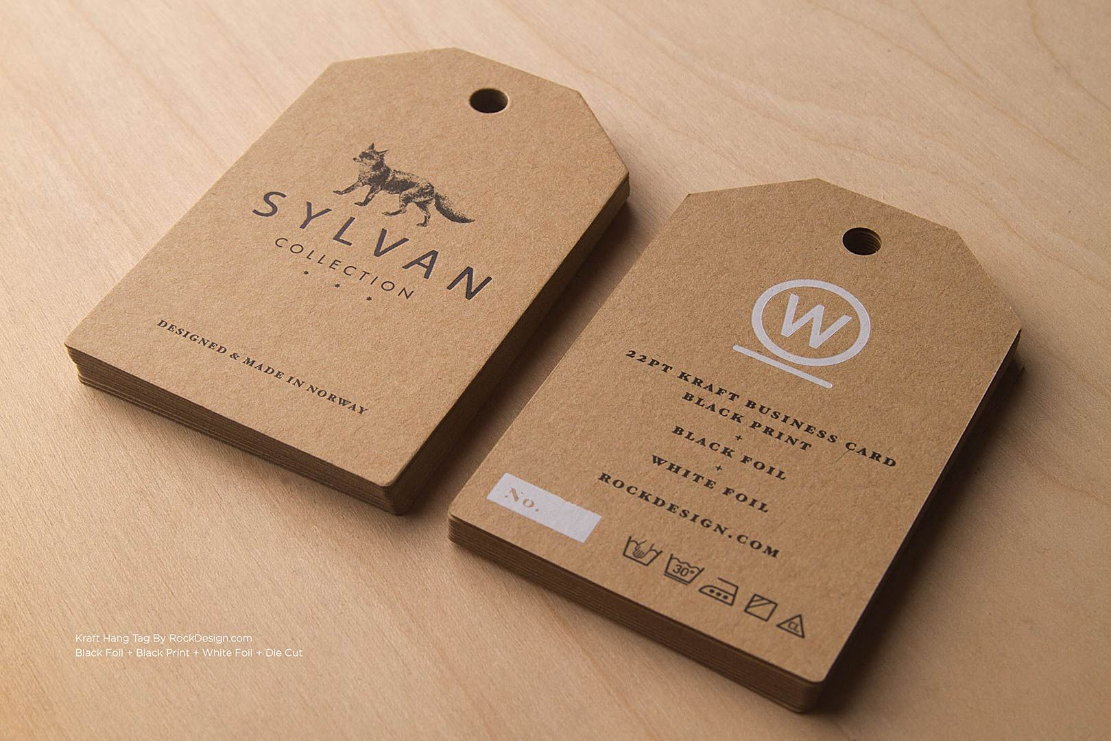 Brown Kraft Business Cards | RockDesign Luxury Business Card ...