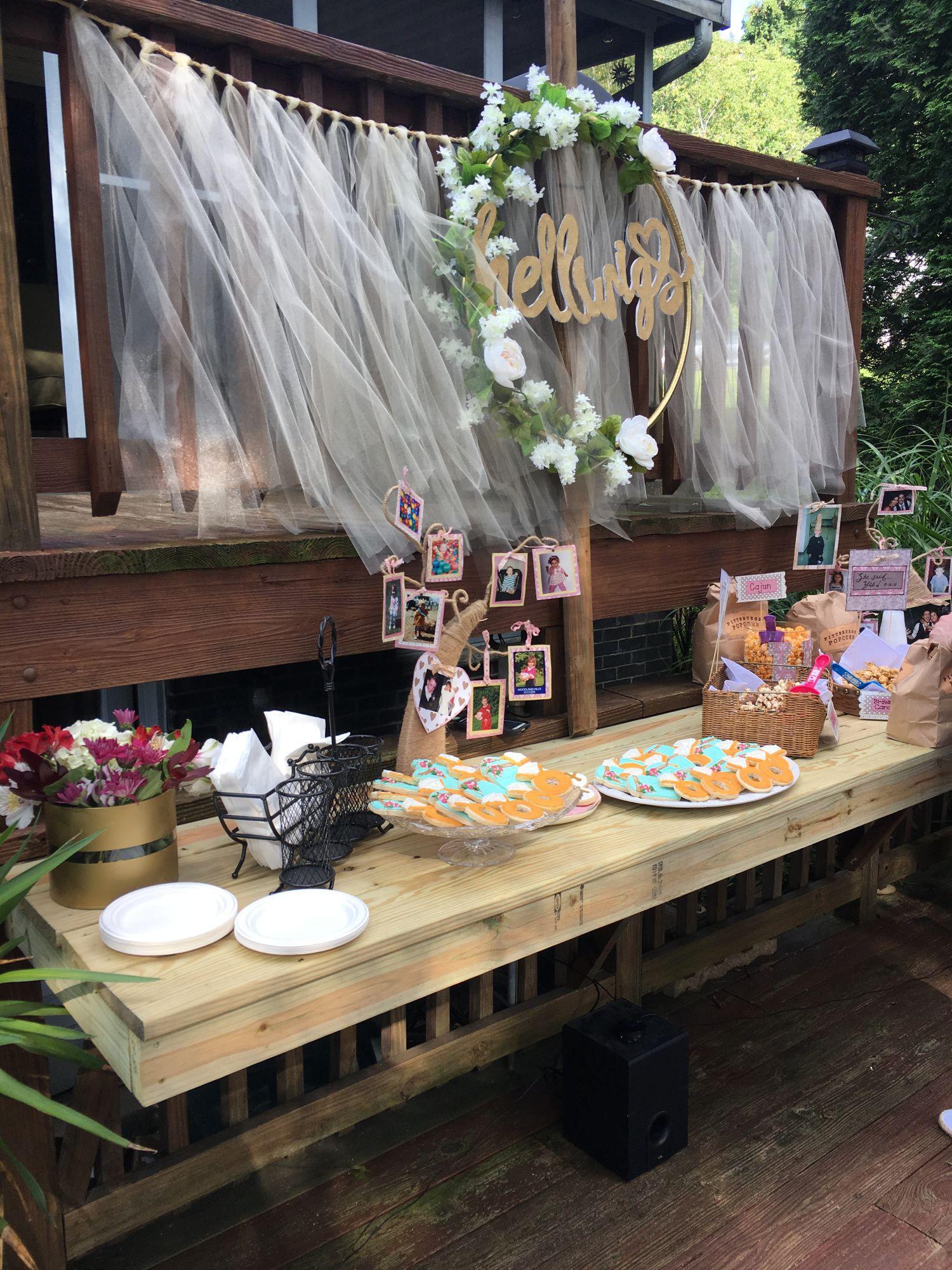easy engagement party decorations i do bbq backyard engagement rh pinterest co uk