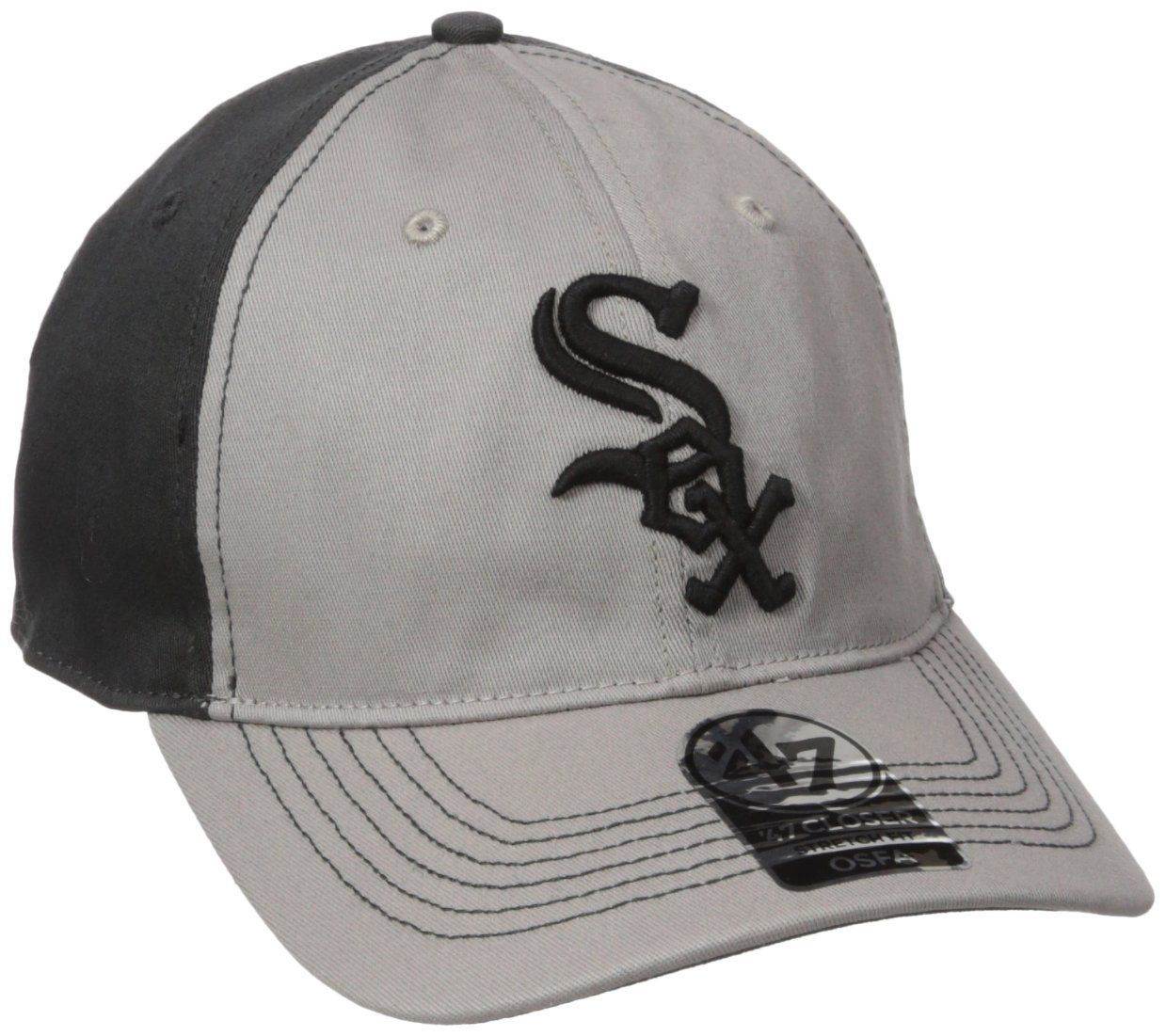 best service a6536 13a8d  47 MLB Chicago White Sox Umbra Closer Stretch Fit Hat, One Size Stretch,