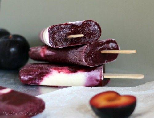 Spiced Plum & Yoghurt Popsicles  |  thecookspyjamas.com