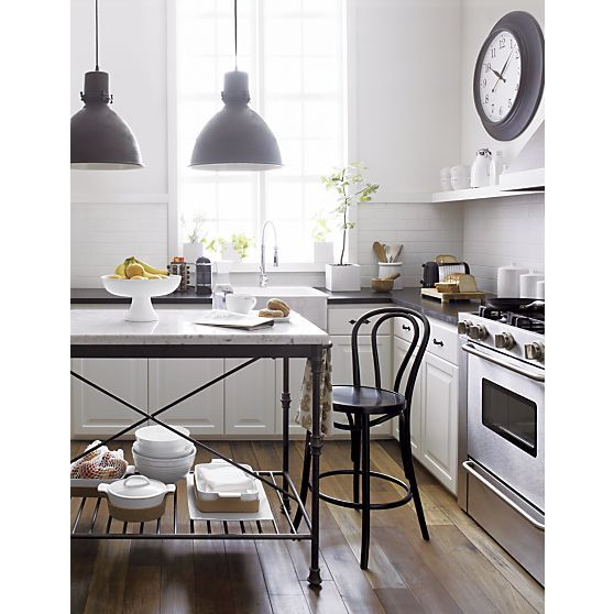 French Kitchen Island | Crate and Barrel | Bistro kitchen ...