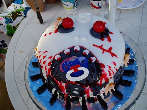 Staceys Zombie Baby Shower Cake by Orange Nose Cakery via Flickr