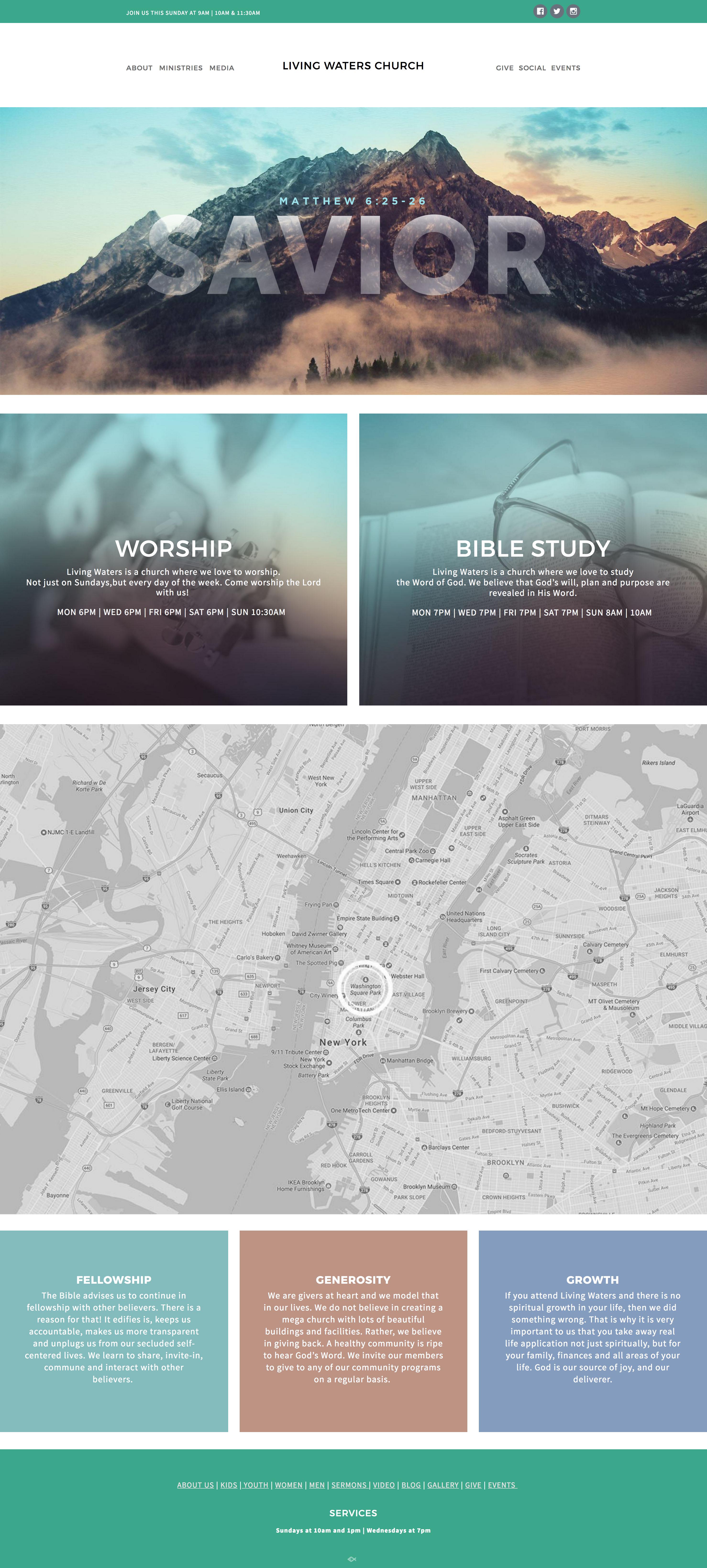 NEW! Living Waters Website Template | Church website | Pinterest ...