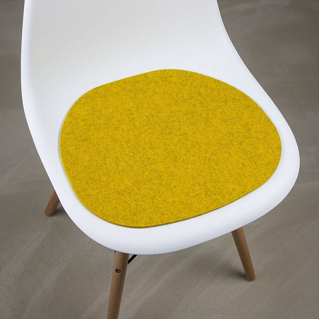 Werktat felt seat pad suitable for eames chair mustard mixed