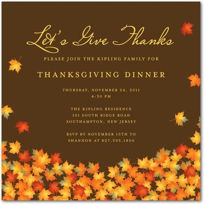 Thanksgiving  Gratitude Thanksgiving Party Invitation Template