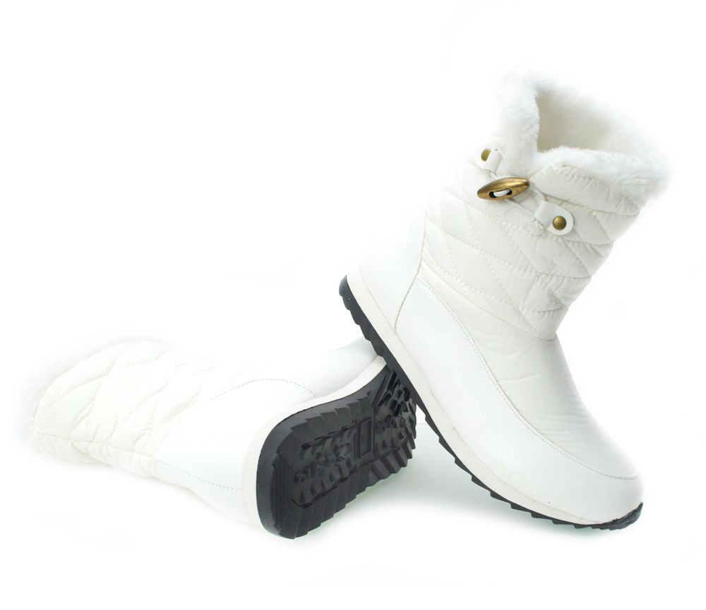 Sniegowce Damskie Biale Buty Zimowe Damskie Sniegowce Biale Smiths Boots Shoes Winter Boot