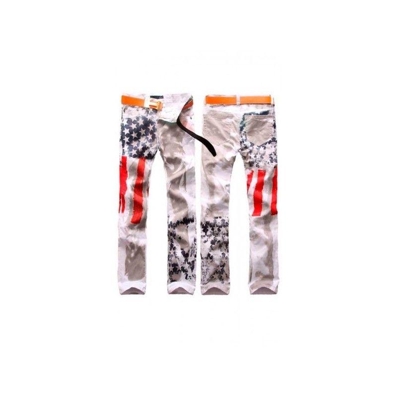Tejanos para hombre con un diseño americano