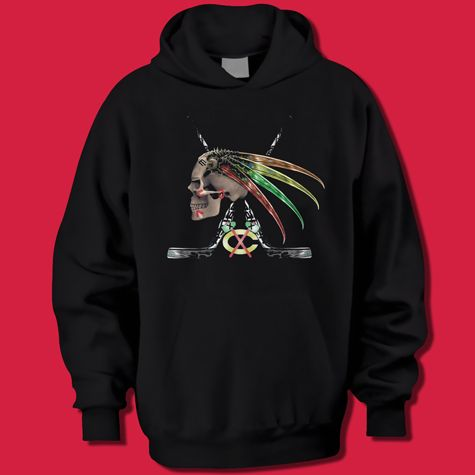 official photos 02e81 64e96 Chicago Blackhawks Skull-Hawk Hoodie | Chicago Sports Shirts ...