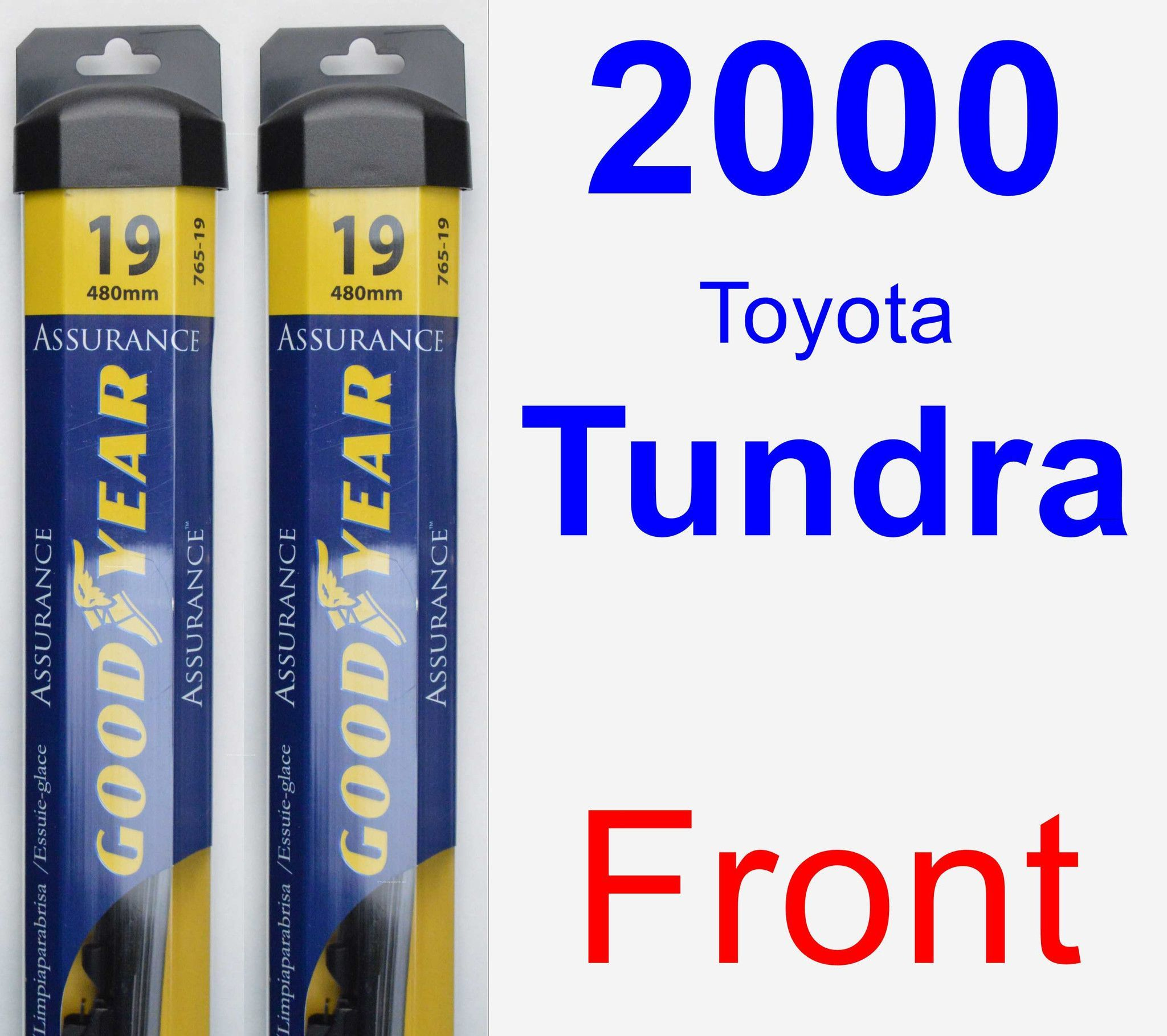 Front Wiper Blade Pack For 2000 Toyota Tundra Assurance Car Windshield Wipers Wiper Blades Subaru