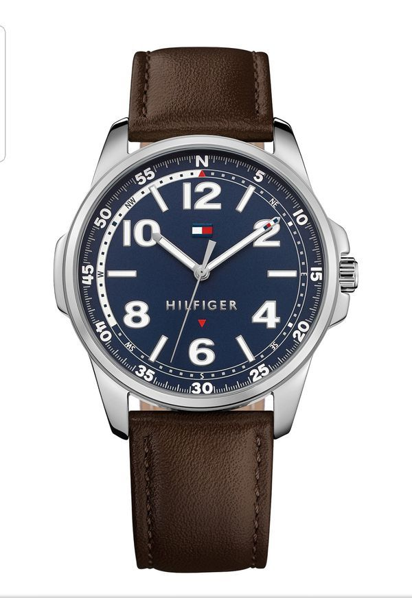New Tommy Hilfiger Watch Tommy Hilfiger Watches Brown Leather