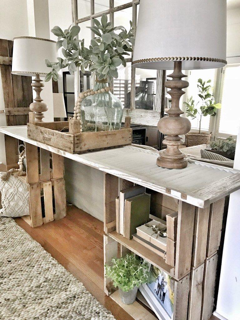 Easy diy console table diy rustic decor decor