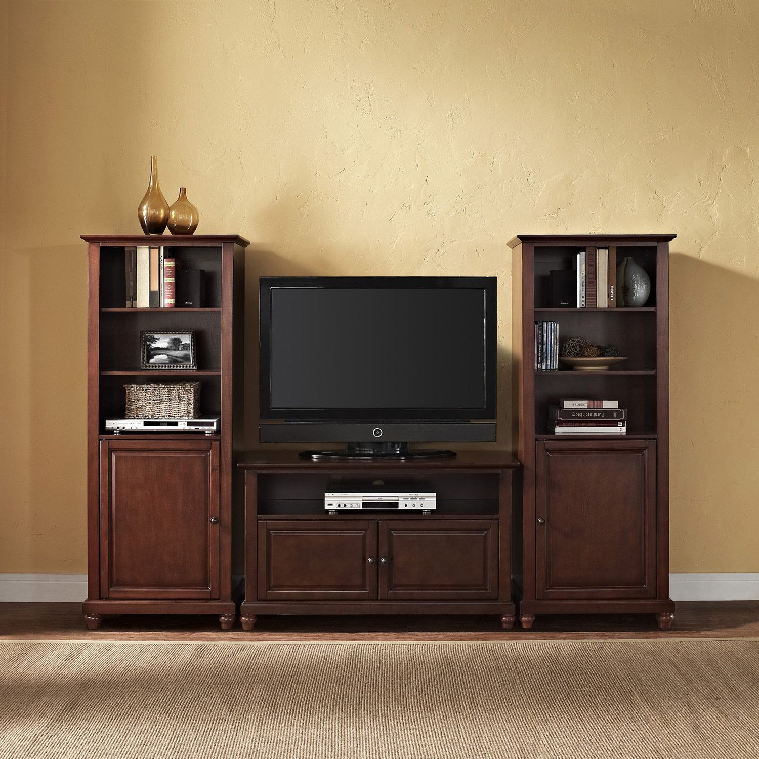 42 Tv Stand And Two 60 Audio Piers Crosley Furniture Home