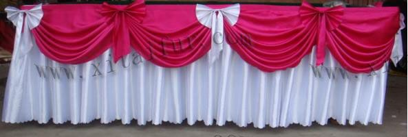 Different Tablecloth For Buffet Table   Table Skirting (YLY TS)