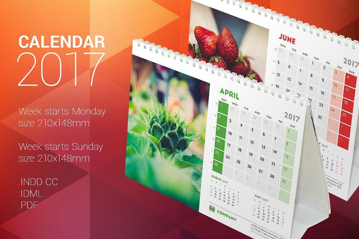 Table Calendar Template Free Desk 2017 Calendars And Desks