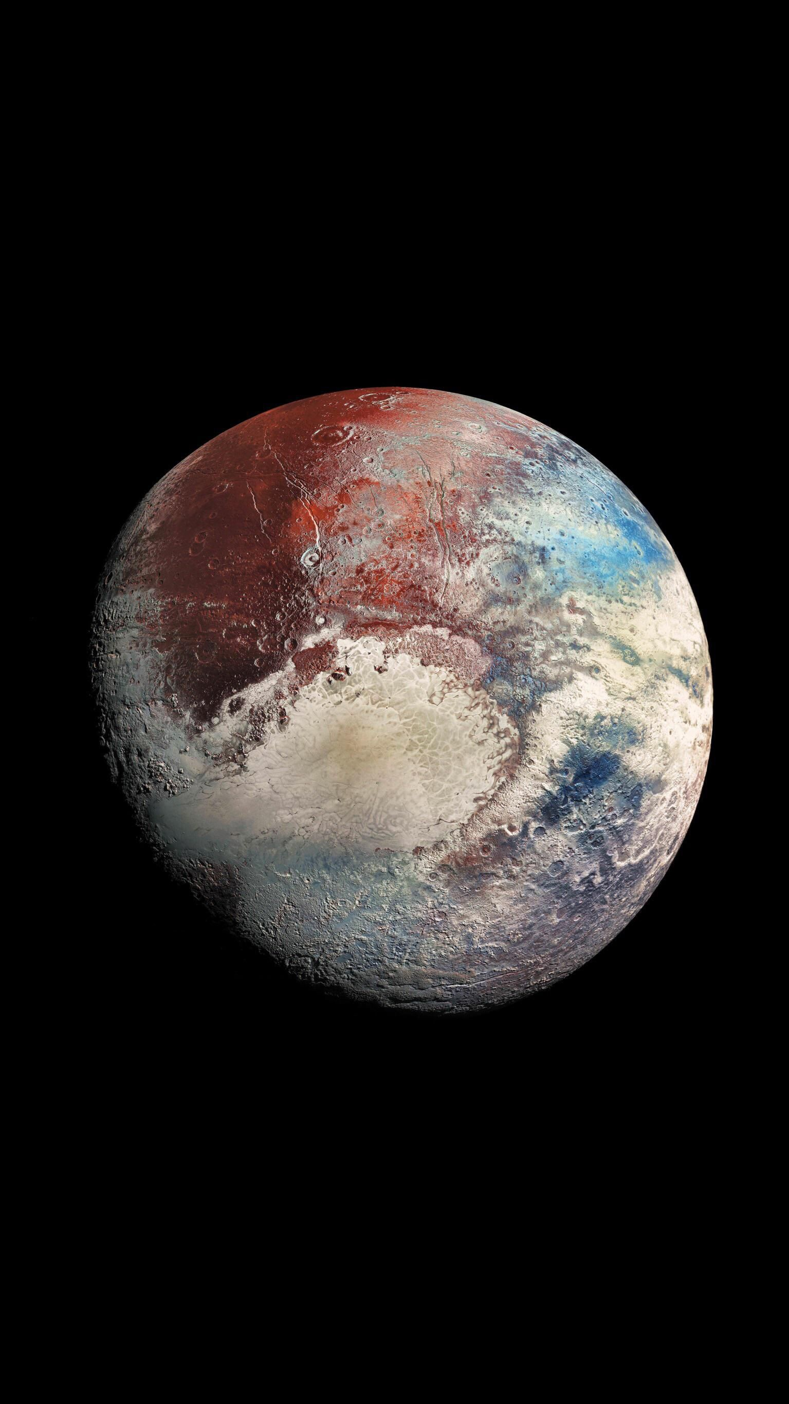 Ultra high resolution photo of Pluto (enhanced colours