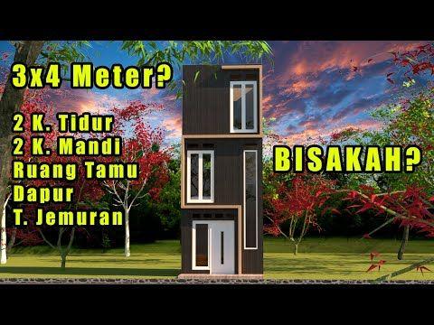 Rumah Minimalis 3x4 2 Kamar Tidur Tiny House Indonesia Youtube Rumah Minimalis Rumah Desain Rumah Mungil