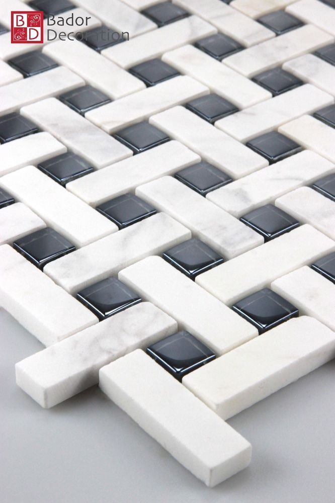 Pate De Verre Marbre Carrelage Mosaique En Noir Blanc Neuf