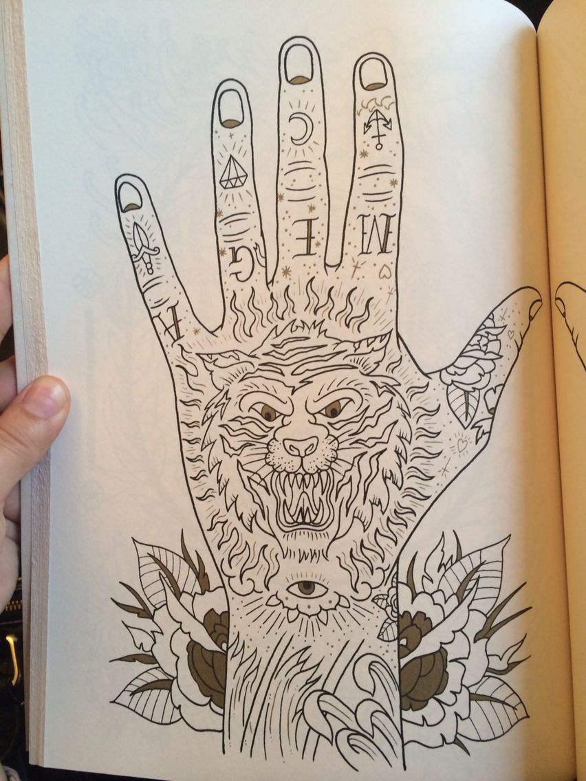 The tattoo coloring book megamunden - Tattoo Coloring Book Megamunden
