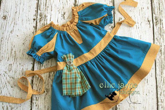 Merida Brave Peasant Top Play Top Costume by EllieJayneDesigns
