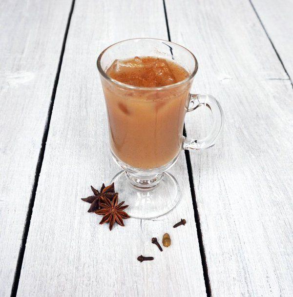 Iced Chai Tea Latte! Coconut Milk, Black Tea, Star Anise