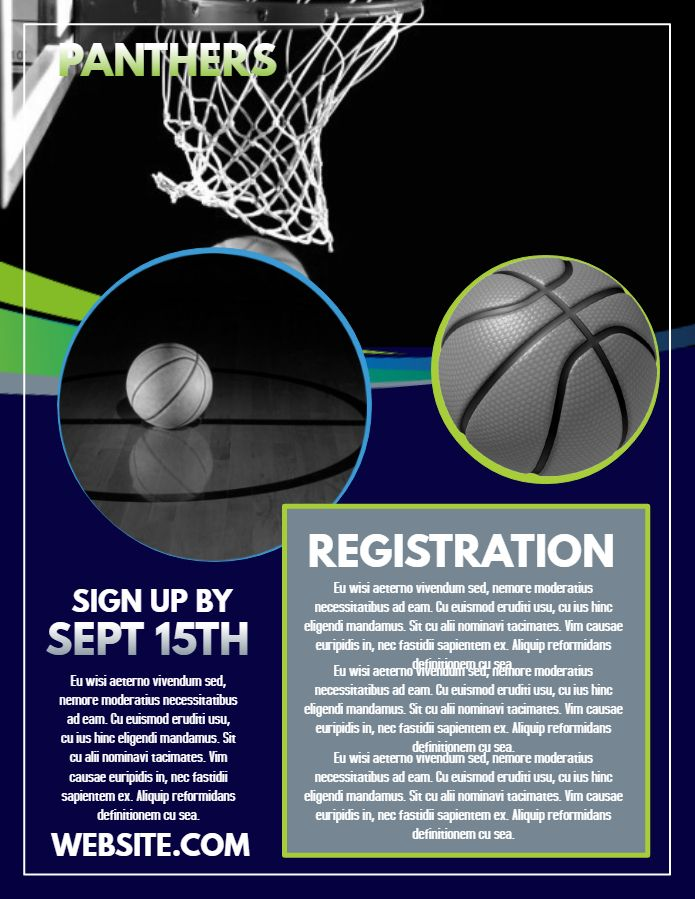 Basketball Registration Flyer Template Click To Customize