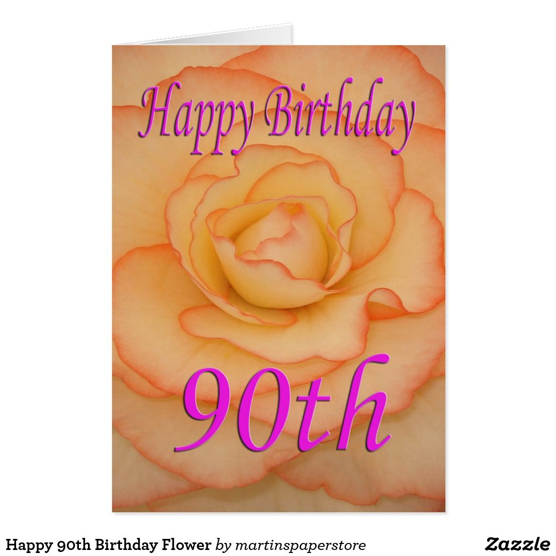 Happy 90th birthday flower card all things zazzle pinterest happy 90th birthday flower card izmirmasajfo