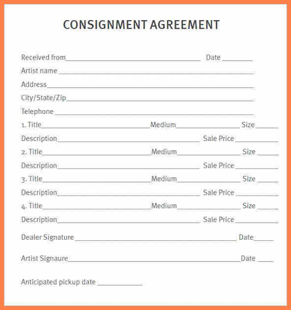 Retail Consignment Agreement Template Free  Consignment Agreement