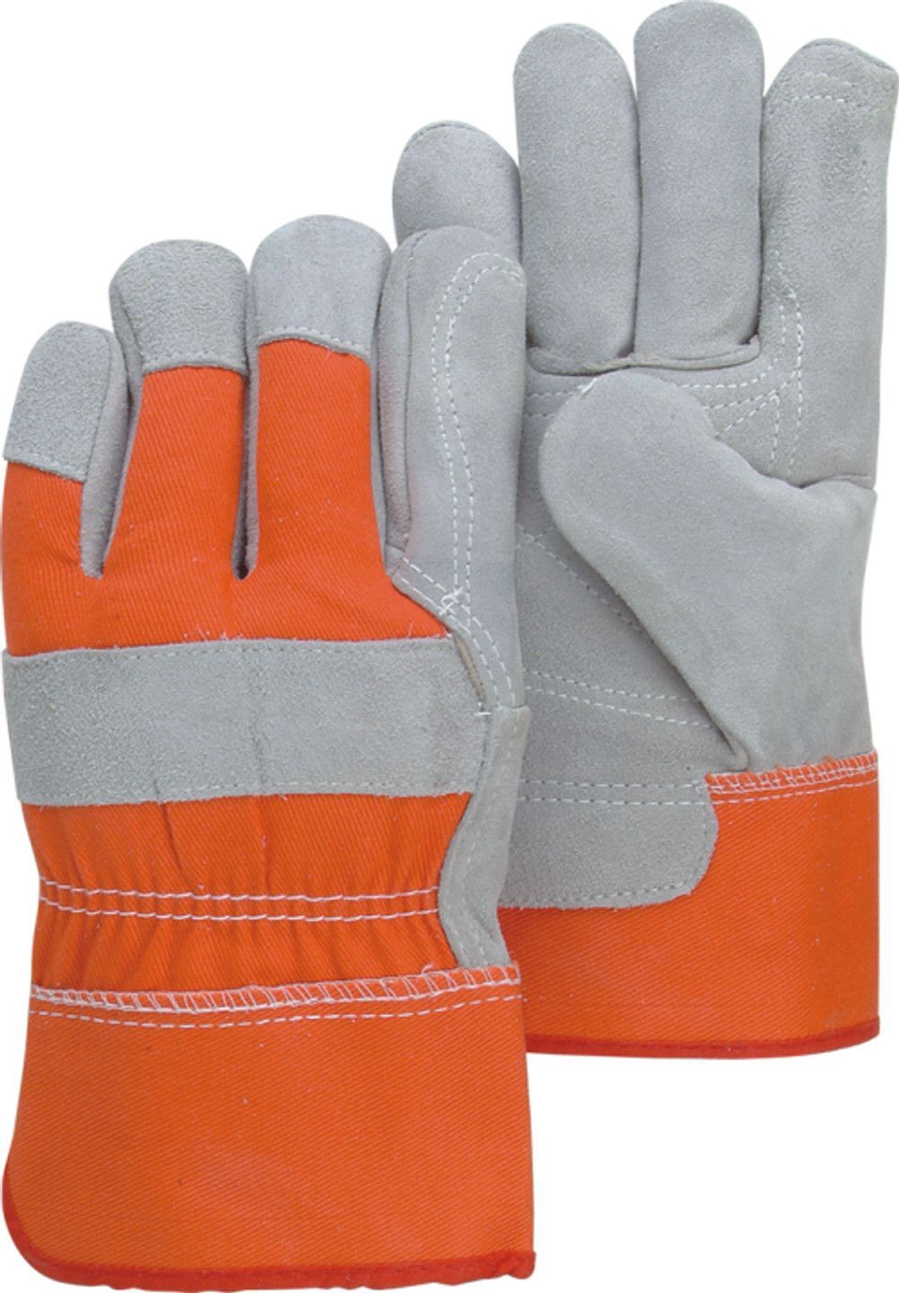 Insulated leather work gloves amazon - Majestic 2501cdp Hi Vis Back Cuff Split Cowhide Leather Work Gloves