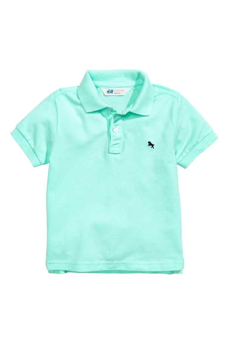 Polo Verde Bambino.Polo In Pique Fashion Polo Shirt Polo Mint Green Shirts