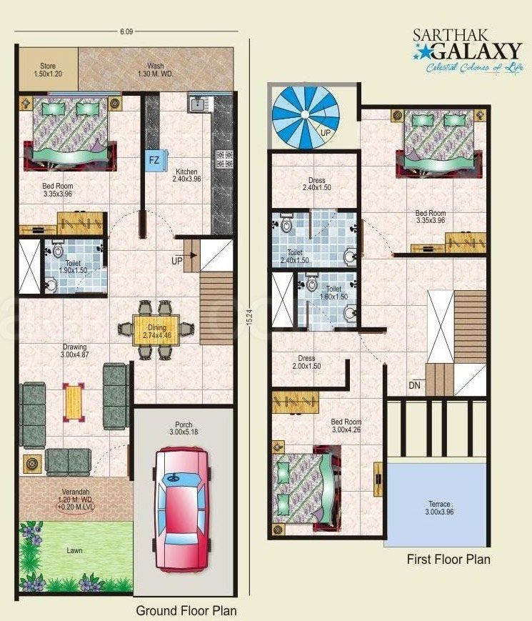 Image result for house plan 20 x 50 sq ft house plans for 24 x 24 apartment layout