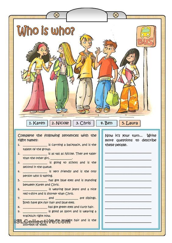 WHO IS WHO worksheet - Free ESL printable worksheets made by ...
