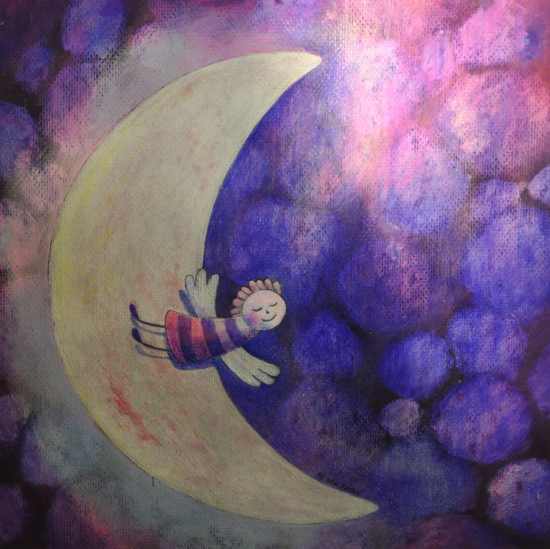 """Lune"" by Ati van Twillert, mixed technique"