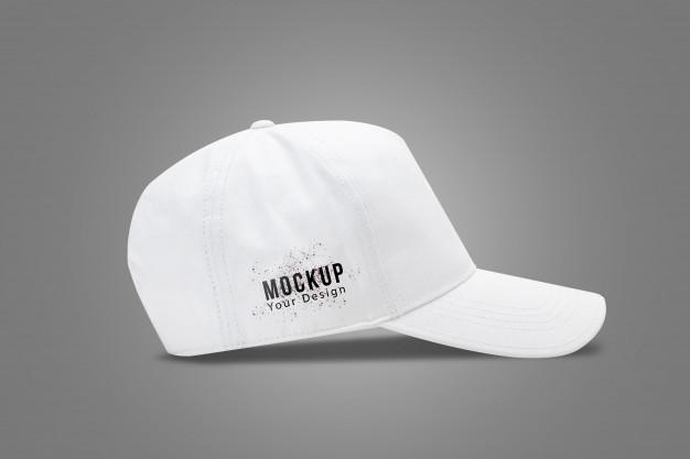 White Baseball Cap Mock Up Template In 2020 White Baseball Cap Mockup Baseball