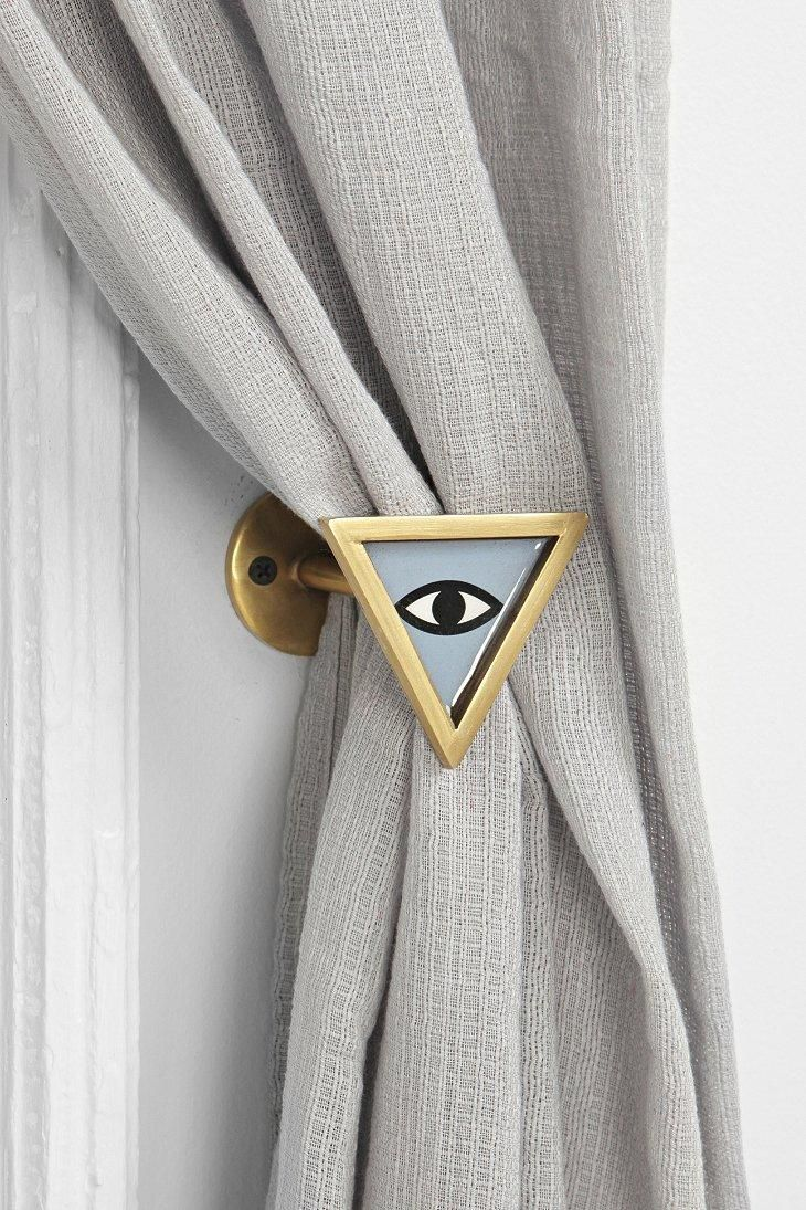 Magical Thinking Triangle Eye Curtain Tie Back Curtain Ties