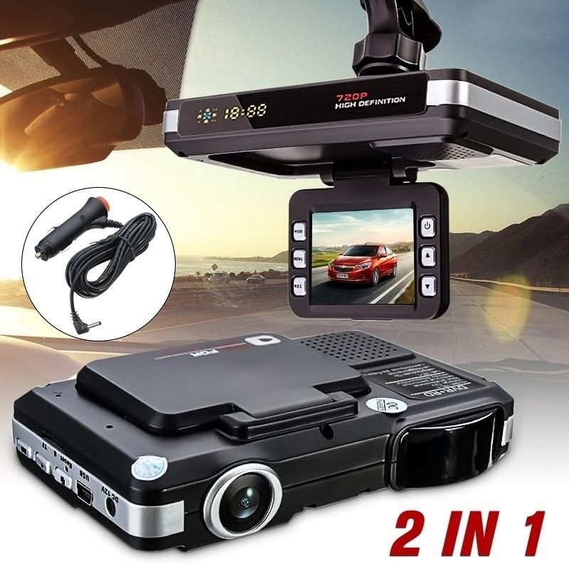 2 In 1 Hd 720p 2 0inch G Sensor Lcd Display Car Dvr Recorder Camera Dash Cam Radar Laser Speed Detector Trafic Alert With Images Dashcam Car Camera