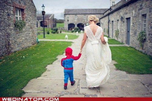 funny wedding photos - My Hero (my son would be totally into this)