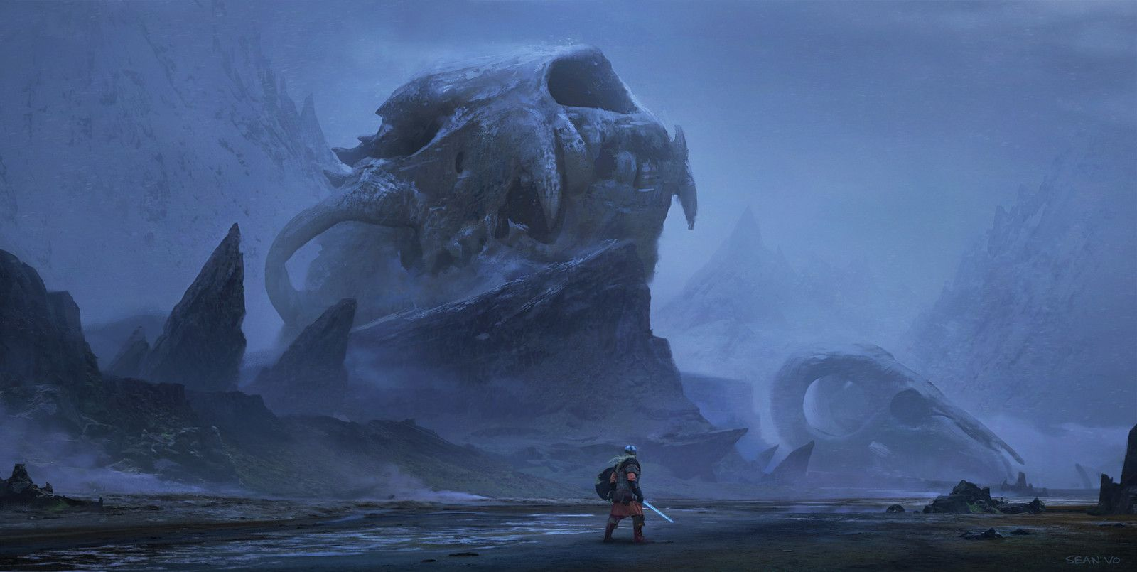 Viking Quest, Sean Vo on ArtStation at https://www.artstation.com/artwork/OxZrb