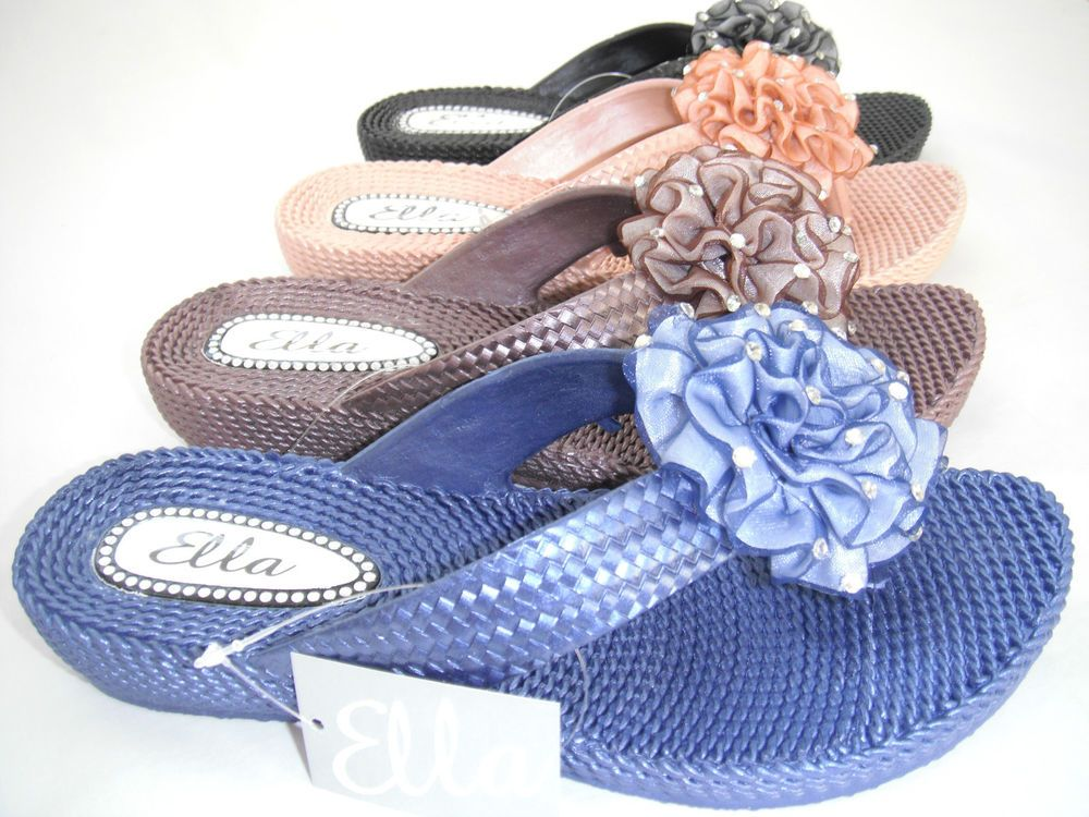 Details About Ladies Womens Ella Sandals Toe Post Flip -2145