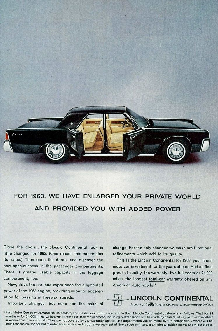 1963 Lincoln Continental Lincoln Continental Lincoln Continental 1963 Dream Cars