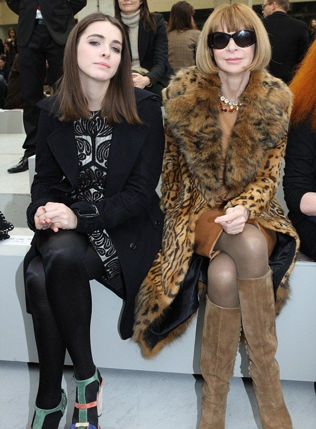 Anna Wintour and her daughter Bee Shaffer attend Celine fashion house show during the Paris Fashion Week Fall-Winter 2011/12 Ready-to-wear collection in 2011.