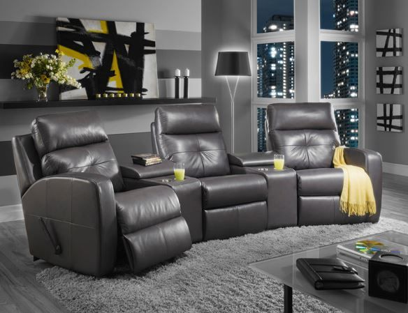 For an awesome enterainment room I give you the  Chloe  Home Theater sectional : elran sectional - Sectionals, Sofas & Couches